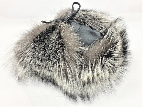 Silver Fox Classy Leather-top Yukon Hat