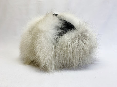 White Mutation Fox Classy Leather-top Yukon Hat