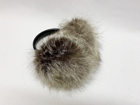 Premium Longhair Earmuffs - Blue/Grey Mutation Fox