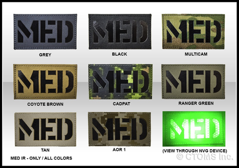 "CTOMS Medical ""MED"" IR Patch, 3.5""x2.0"""