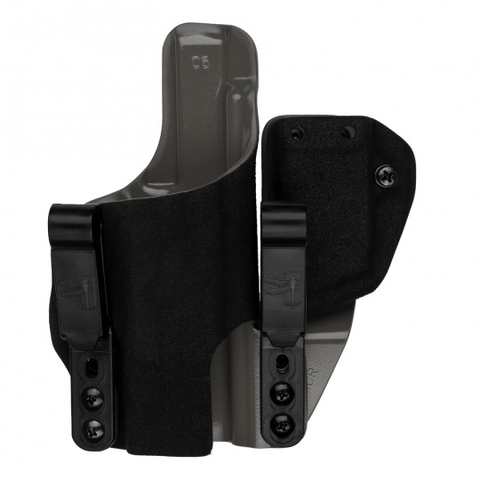 G-Code Holsters, INCOG IWB, Black Fuzz Outside, Grey Inside, Mag Caddy, G19/23, RH