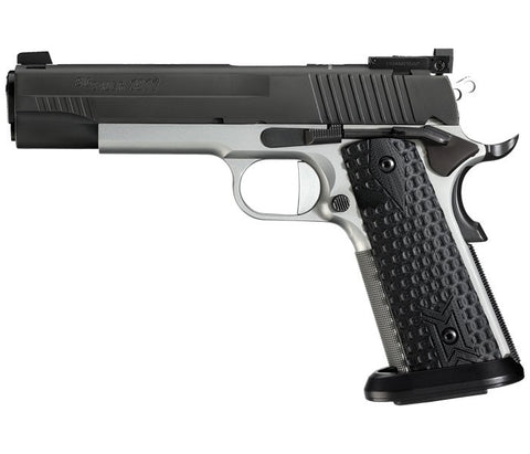 "Sig Sauer 1911 Max Michel, 5.00"" Barrel, Reverse Two-Tone, Extended Magwell, 9mm"