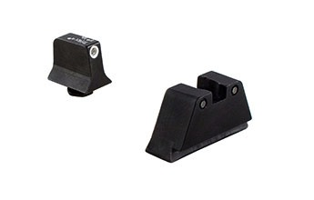 Trijicon Night Sight Suppressor Height, Glock 17/19/22/23, White Front, Black Rear