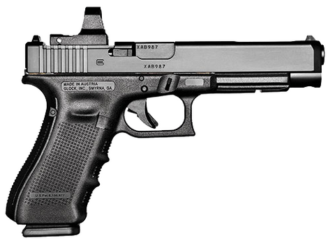 "Glock 34 Gen4 MOS, 5.31"" Barrel, 9mm, Black"