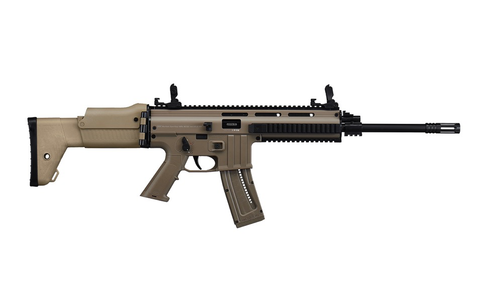 "ISSC MK22 Desert Semi-Auto Rifle, 16.53"" Barrel, 22LR, FDE"