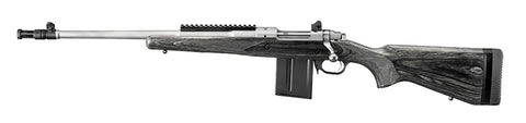 "Ruger Gunsite Scout Rifle, Left Hand Bolt, 16.10"" Stainless Threaded Barrel, Black Laminate Stock, 308 Win"