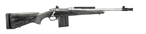 "Ruger Gunsite Scout Rifle, 16.10"" Stainless Threaded Barrel, Black Synthetic, 5.56 Nato"
