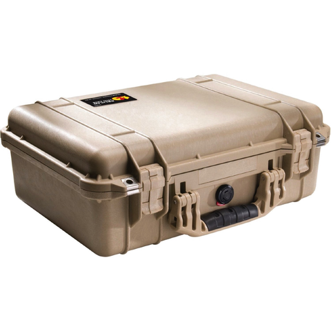 Pelican Case 1500 Tan w/Foam