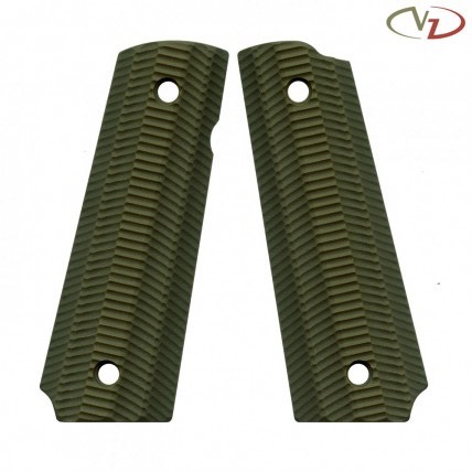 VZ Grips 1911 Alien, Army Green, Full Size, Standard Profile, Super Scoop, Ambi Safety