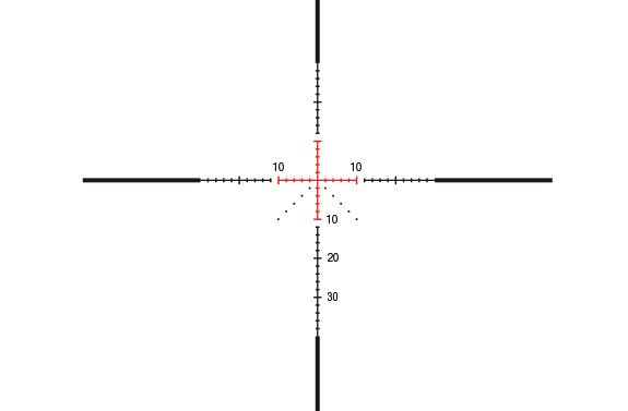 Trijicon AccuPower 1-4x24 MOA Crosshair Reticle, Red LED