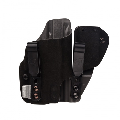 G-Code Holsters, INCOG Shadow, Black Fuzz Outside, Grey Inside, Mag Caddy, G19/23 XC1, RH
