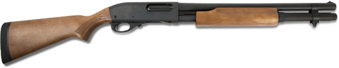 "Remington 870 Police, 18.00"" Barrel, 2 Shot Extension, Bead Sight, Walnut Stock, 12 GA"