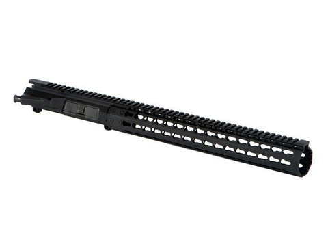 Mega Arms, MKM AR15 Extended Rifle Length KeyMod Upper Receiver, 14.0
