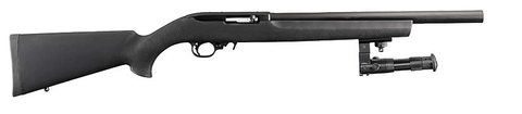 "Ruger 10/22 Tactical, 16.00"" Heavy Barrel, Black Hogue OverMold Stock w/BiPod, 22LR"