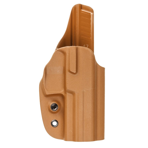 G-Code Holsters, OSH RTI Kydex Holster, Glock 19/23, Shirt Guard, Coyote Tan, RH