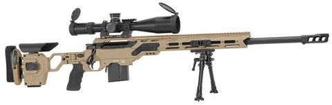"Cadex Defence, Patriot Lite Rifle, 338 Lapua, 27.00"" Barrel, DX2 Trigger, MX1 Brake, Hybrid Tan/Black"