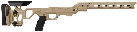 Cadex Defence, Field Competition Chassis, Skeletonized Stock, Rem700, Short Action, Right Hand, Tan
