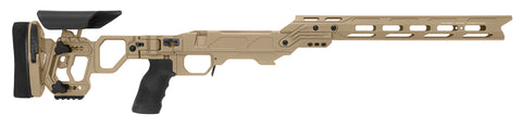 Cadex Defence, Lite Competition Chassis, Skeletonized Folding Stock, Rem700, Short Action, Right Hand, Tan