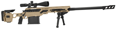 "Cadex Defence, Tremor 50 Rifle, 50 BMG, 29.00"" Barrel, DX2 Trigger, MX1 Muzzle Brake, Hybrid Tan/Black"