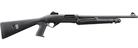 "Benelli Super Nova Tactical Pump Shotgun, 12 GA, 18.5"" Barrel, Black Synthetic Pistol Grip Stock"