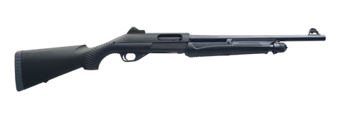 "Benelli Super Nova Tactical Pump Shotgun, 12 GA, 18.5"" Barrel, Black Synthetic Stock"
