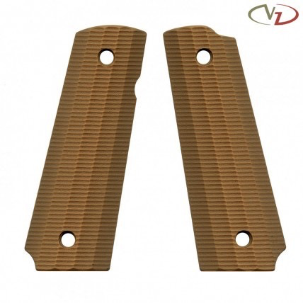 VZ Grips 1911 Gator Back, Military Brown, Full Size, Standard Profile, Super Scoop, Ambi Safety