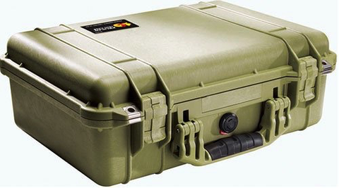 Pelican Case 1500 OD Green w/Foam