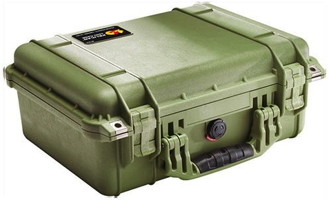 Pelican Case 1450 OD Green w/Foam