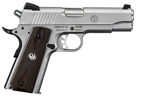 "Ruger SR1911 Commander, 4.25"" Barrel, 45 ACP, Stainless"
