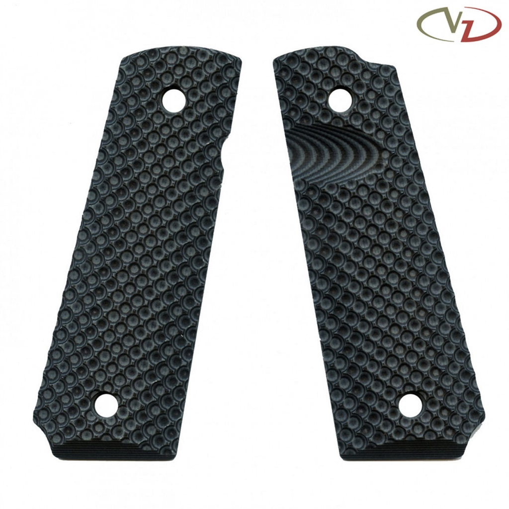 VZ Grips 1911 VZ Recon, Black Grey, Full Size, Magwell Profile, Thumb Notch, Ambi Safety