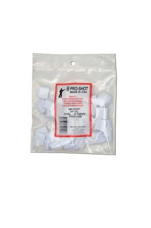 "ProShot Patches 17-22 Cal Rimfire 3/4"" 500 Count"