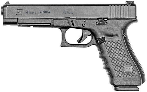 "Glock 41 Gen4, 5.31"" Barrel, 45 ACP, Black"