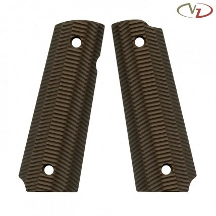 VZ Grips 1911 Alien, Earth Brown, Full Size, Standard Profile, Super Scoop, Ambi Safety