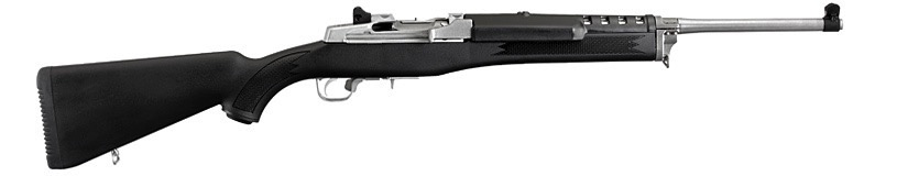 """Ruger Mini-14 Ranch Rifle, 18.50"""" Stainless Barrel, Synthetic Stock, 5.56 NATO/223 REM"""