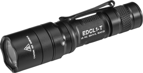 SureFire EDCL1-T Everyday Carry, 500 Lumens, Dual-Output LED, Black