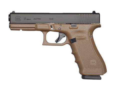 "Glock 17 Gen4, 4.48"" Barrel, 9mm, Flat Dark Earth"