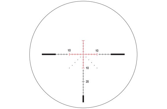 Trijicon AccuPower 4-16x50 APW MOA Crosshair Reticle, Red LED
