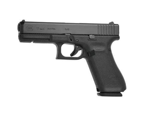"Glock 17 Gen5, 4.48"" Barrel, 9mm, Black"