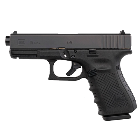 "Glock 19 Gen4, 4.17"" Barrel, 9mm, Black"