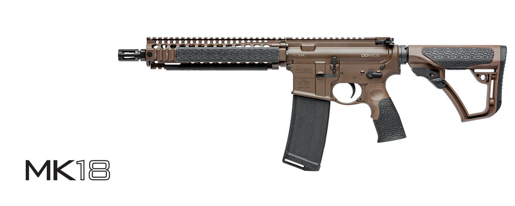 "Daniel Defense Mk18 MilSpec+ Carbine, 10.3"" Cold Hammer Forge Barrel, Brown, 5.56mm"