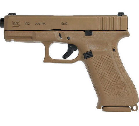 "Glock 19X Gen5, 4.17"" Barrel, 9mm, Coyote"