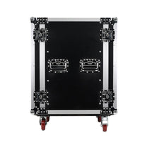 SA-PTR-16UC - 16 Space Pro Audio DJ Road Rack Case with Casters - Pro Tour Grade