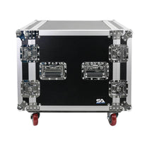 SA-PTR-10UC - 10 Space Pro Audio DJ Road Rack Case with Casters - Pro Tour Grade