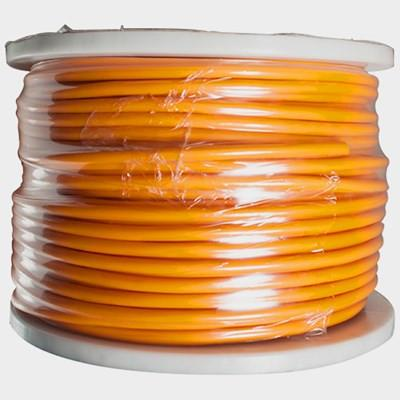 22 Gauge 3 Conductor Orange Microphone Cable - 100 Meter Spool