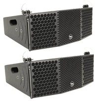 CLA-2x5 - Pair of Compact 2x5 Line Array Speakers with Titanium Compression Drivers