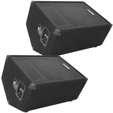 "FL-12MP - Pair of Premium 12"" PA Floor Monitors with Titanium Horns"