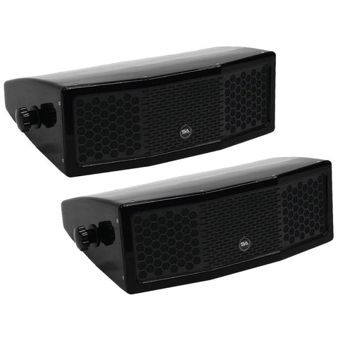 FLA-2x5 - Pair of Compact Indoor/Outdoor 2x5 Fiberglass Speakers - Waterproof with Mounting Bracket
