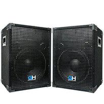 Grindhouse Speakers - Pair of Passive 12 Inch 2-Way PA/DJ Loudspeaker Cabinets - 700 Watt Full Range PA/DJ Band Live Sound Speakers