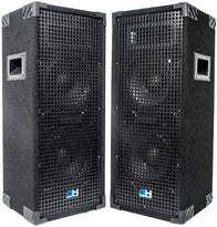 Grindhouse Speakers - Pair of Passive Dual 8 Inch 2-Way PA/DJ Loudspeaker Cabinets - 900 Watt Full Range PA/DJ Band Live Sound Speakers