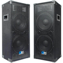 Pair of Passive Dual 10 Inch 2-Way PA/DJ Loudspeaker Cabinets - 1050 Watt Full Range PA/DJ Band Live Sound Speakers